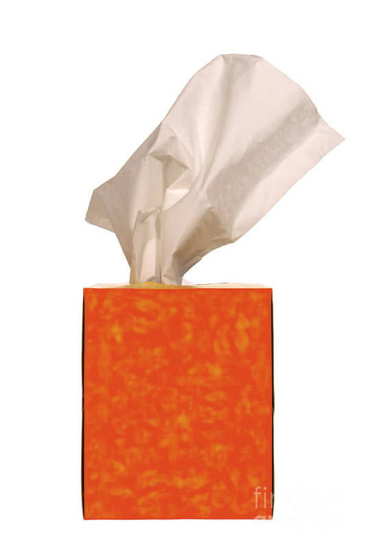 Tissue Art Print featuring the photograph Tears Quencher by Olivier Le Queinec