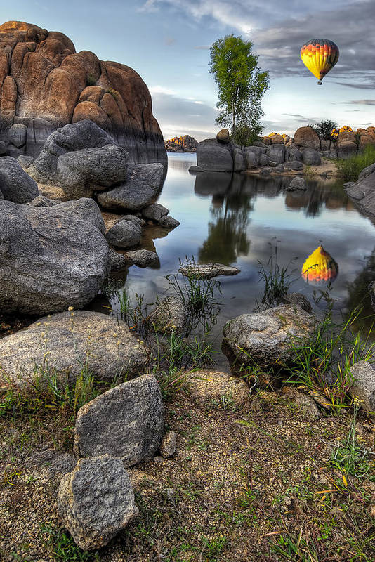 Landscape Print featuring the photograph The Bobber by Sean Foster
