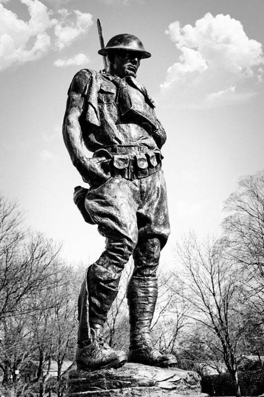 Doughboy Art Print featuring the photograph The Doughboy - Tribute To The American Expeditionary Forces Of World War 1 by Gary Heller