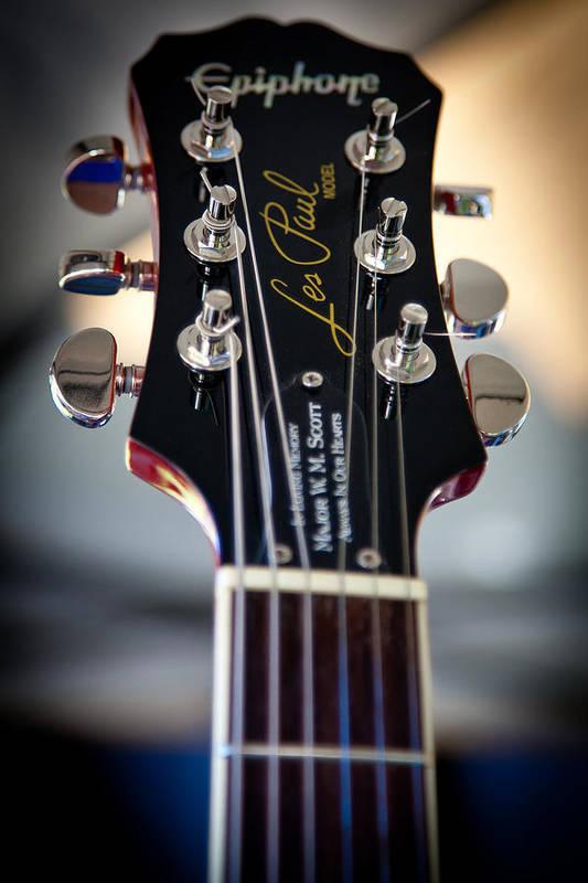 The Epiphone Les Paul Guitars Art Print featuring the photograph The Epiphone Les Paul Guitar by David Patterson