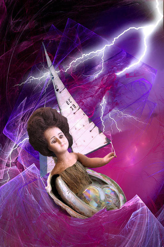 Doll Art Print featuring the digital art The Explorer by Lisa Yount