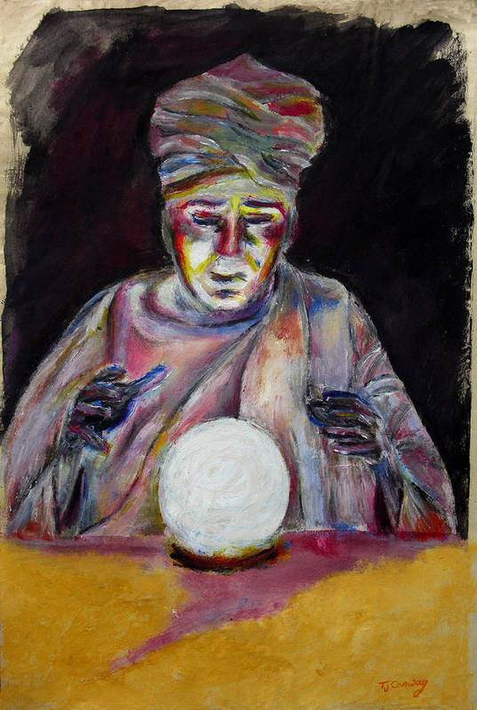 Fortune Tellers Art Print featuring the painting The Fortune Teller by Tom Conway