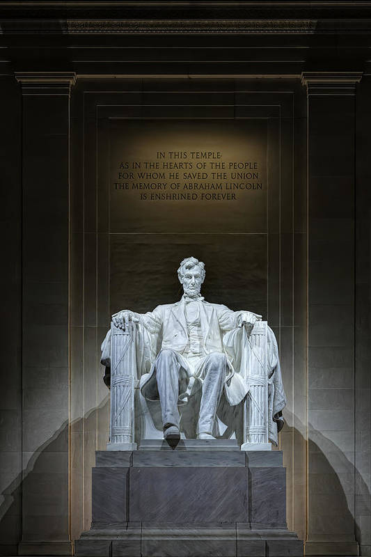 Metro Art Print featuring the photograph The Great Emancipator by Metro DC Photography