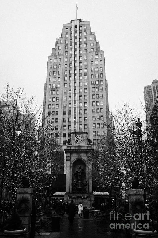 Usa Art Print featuring the photograph The Herald Square Building In The Rain Herald Square Broadway And 6th Avenue New York City Nyc by Joe Fox
