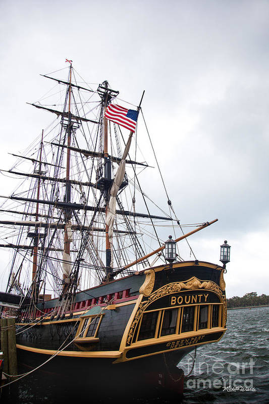 Bounty Art Print featuring the photograph The Hms Bounty At Peanut Island by Michelle Wiarda-Constantine