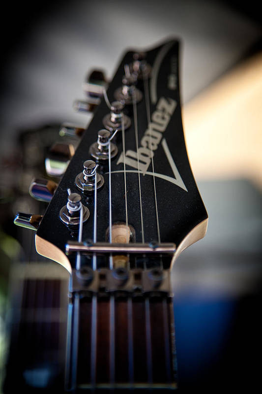 The Ibanez Guitar Art Print featuring the photograph The Ibanez Guitar by David Patterson