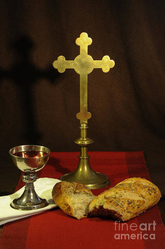 Chalice Art Print featuring the photograph The Lord's Supper by Donald Davis