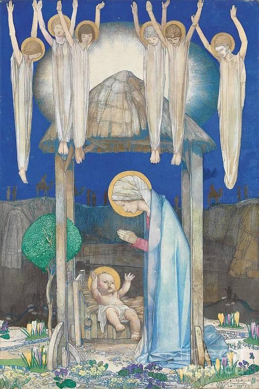 Nativity Art Print featuring the painting The Nativity by Edward Reginald Frampton