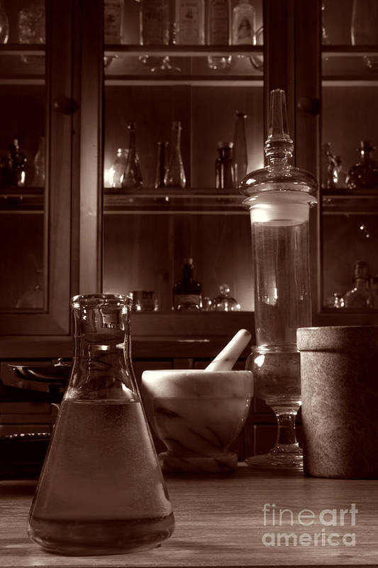 Apothecary Art Print featuring the photograph The Old Apothecary Shop by Olivier Le Queinec