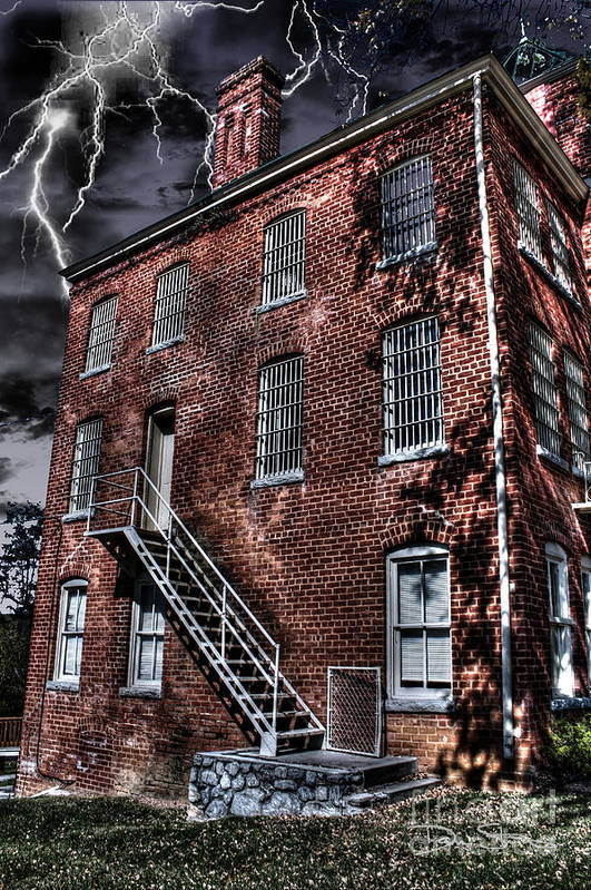 Abandoned Art Print featuring the photograph The Old Jail by Dan Stone