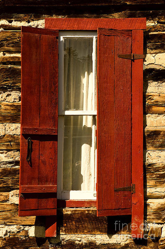 Reynold's Cabin Art Print featuring the photograph The Reynold's Cabin Window by Catherine Fenner