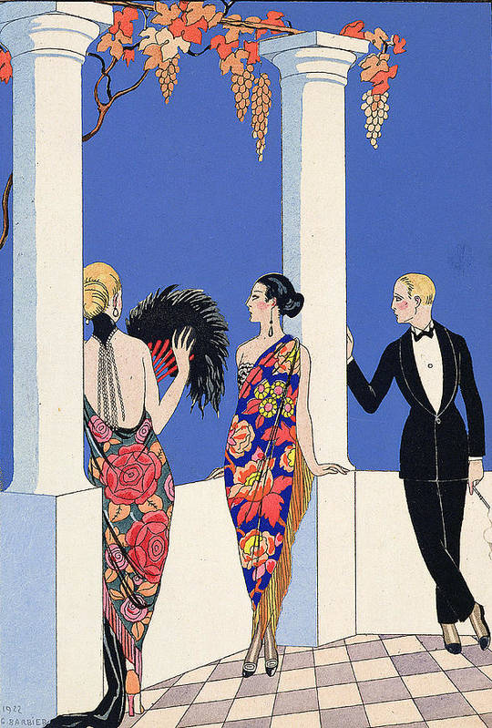 Le Gout Des Chales Art Print featuring the painting The Taste Of Shawls by Georges Barbier