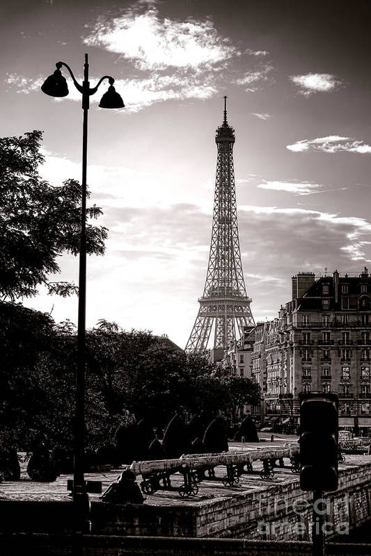 France Art Print featuring the photograph Timeless Eiffel Tower by Olivier Le Queinec