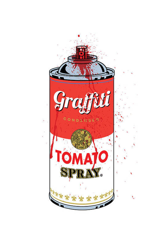 Gary Grayson Art Print featuring the digital art Tomato Spray Can by Gary Grayson