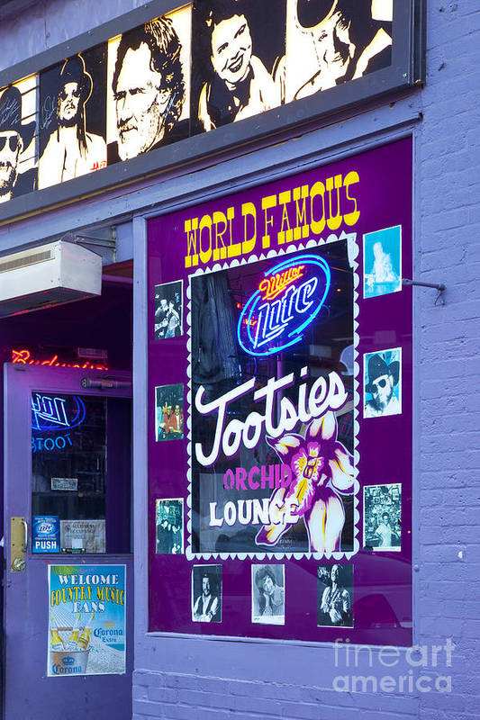 Tootsies Print featuring the photograph Tootsies Nashville by Brian Jannsen