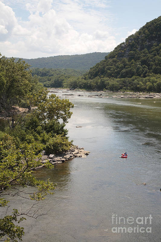 Potomac Art Print featuring the photograph Tubing On The Potomac River At Harpers Ferry by William Kuta