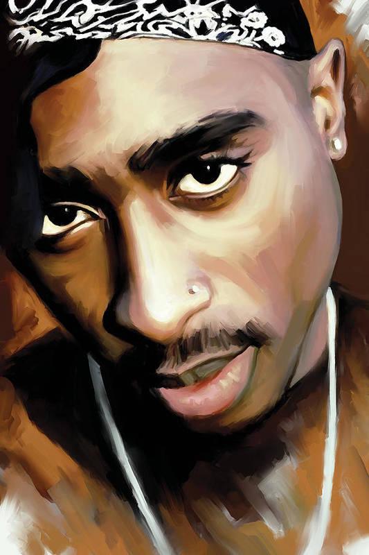 Tupac Shakur Art Print By Sheraz A