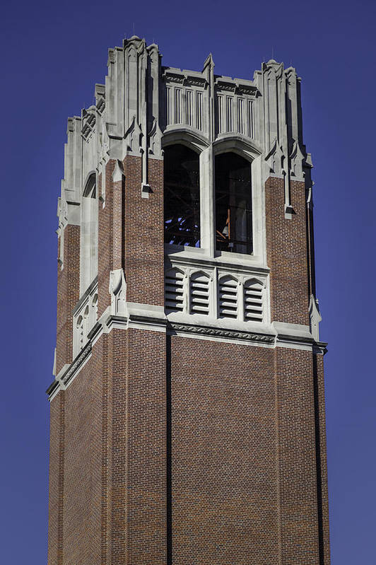Uf Century Tower Art Print featuring the photograph Uf Century Tower by Lynn Palmer