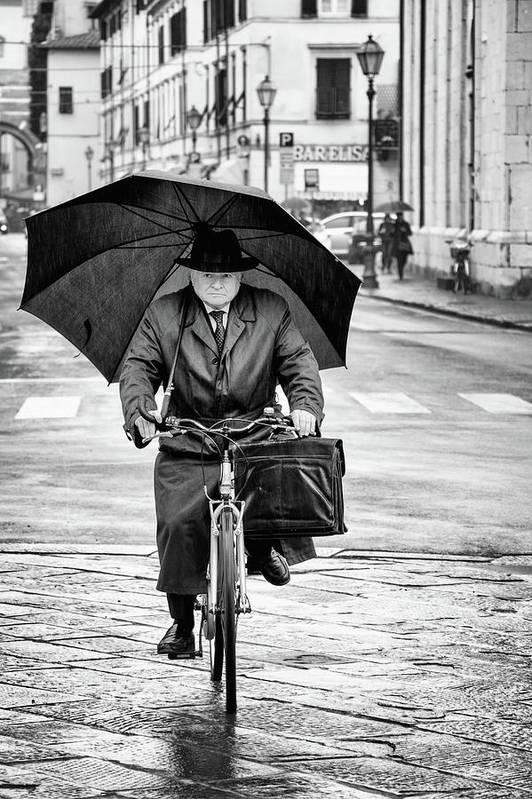 Rain Art Print featuring the photograph Under The Rain by Massimo Della Latta