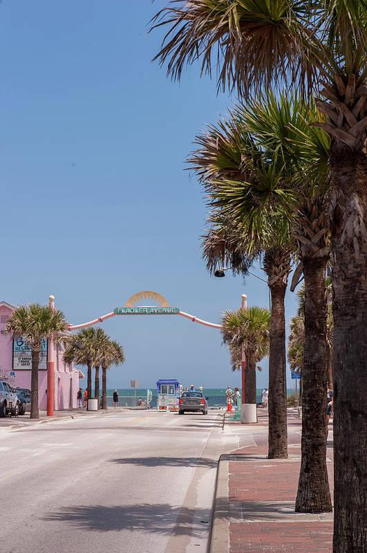 Atlantic Ocean Art Print featuring the photograph Usa, Florida, New Smyrna Beach, Flagler by Lisa S. Engelbrecht