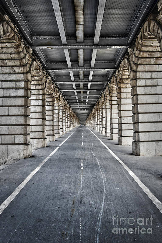 Paris Art Print featuring the photograph Vanishing Point by Delphimages Photo Creations