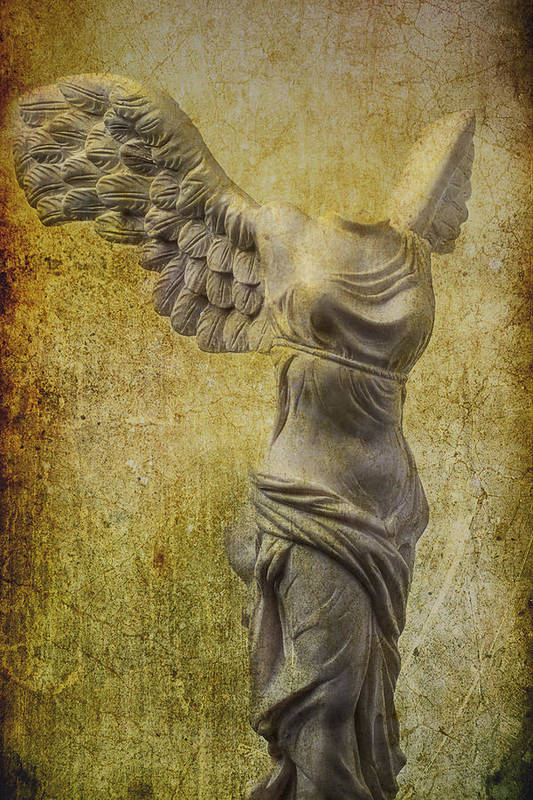 Winged Victory Art Print featuring the photograph Victory Abstract by Garry Gay