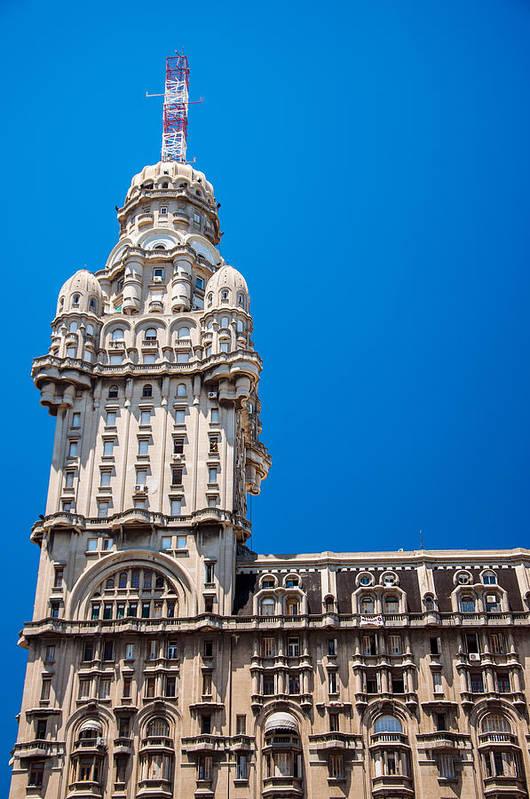 View Of Palacio Salvo In Montevideo Art Print by Jess Kraft