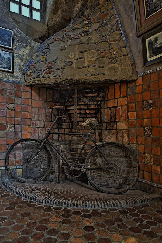 Byzantine Print featuring the photograph Vintage Bicycle by Susan Candelario