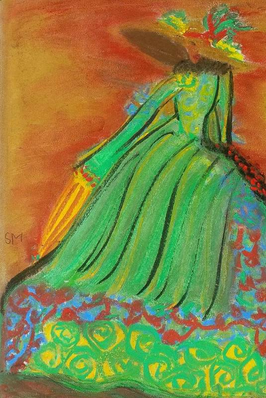 People Art Print featuring the painting Vintage Lady by Sylvia Masri