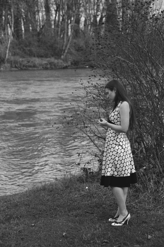 50's Art Print featuring the photograph Waiting By The River by Mel Duncan