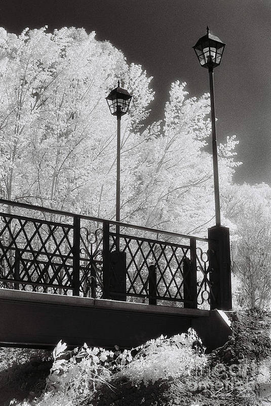 Infrared Art Print featuring the photograph Wangaratta Footbridge by Linda Lees