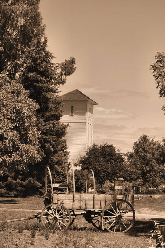 Water Tower Art Print featuring the photograph Water Tower by Ray Finch