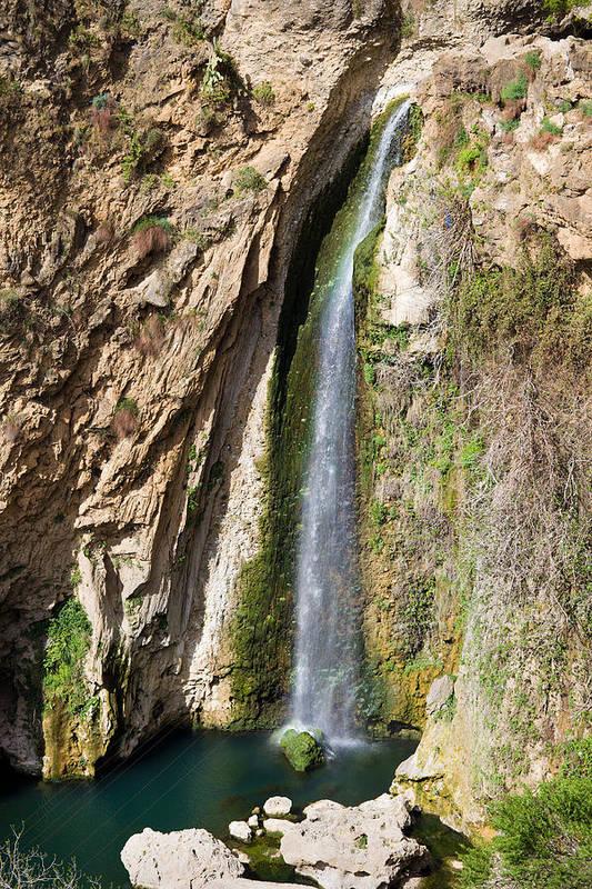 Waterfall Art Print featuring the photograph Waterfall In Ronda by Artur Bogacki