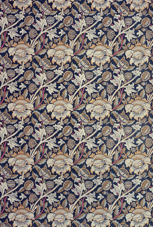 Pattern Art Print featuring the tapestry - textile Wey Design by William Morris