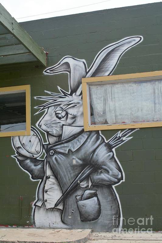 March Hare Art Print featuring the photograph White Rabbit by Lne Kirkes