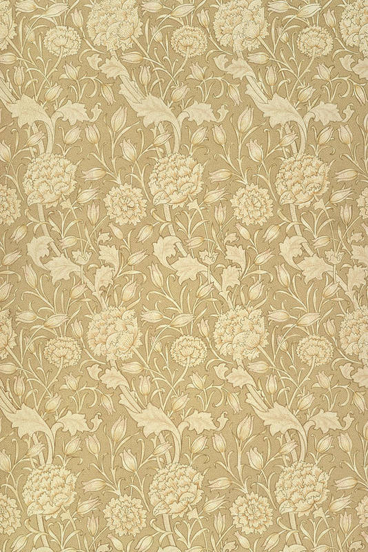 Pattern Art Print featuring the tapestry - textile Wild Tulip Wallpaper Design by William Morris