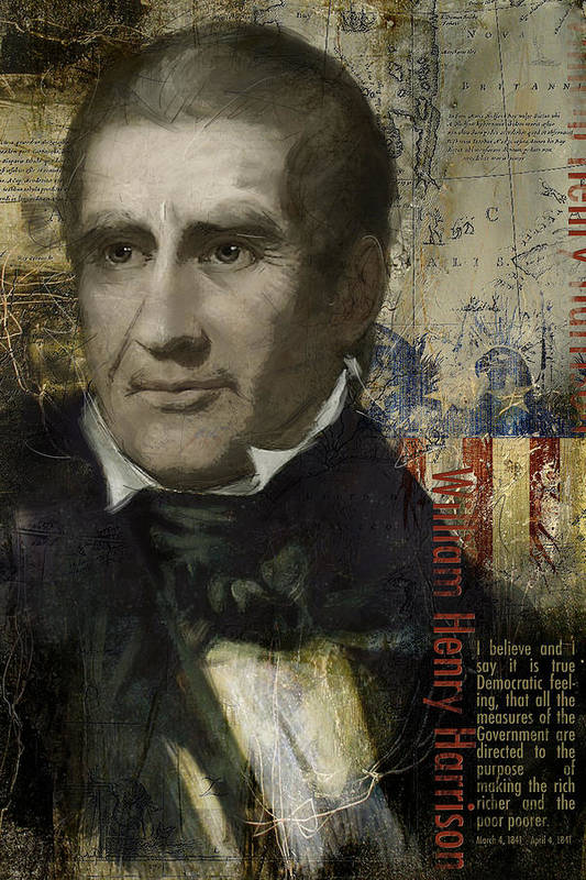 William Henry Harrison Print featuring the painting William Henry Harrison by Corporate Art Task Force