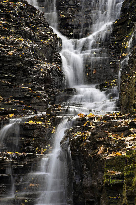 Winding Print featuring the photograph Winding Waterfall by Christina Rollo