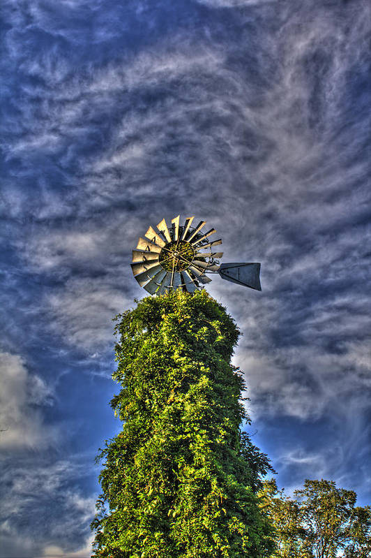 Windmill Art Print featuring the photograph Winds Of The Mind by David Jones