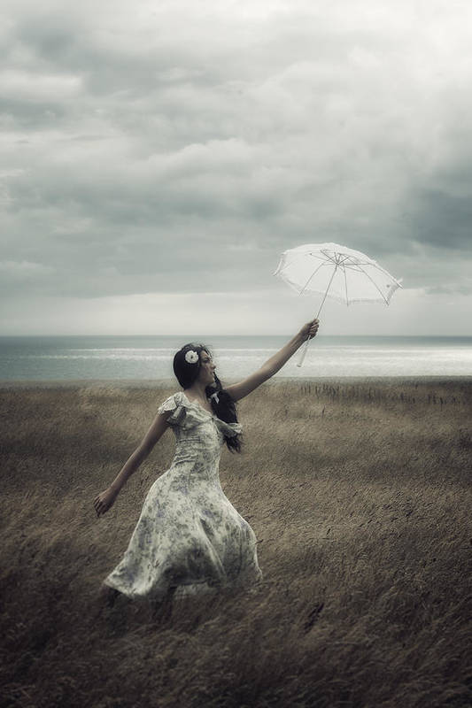 Girl Art Print featuring the photograph Windy by Joana Kruse