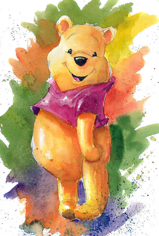 winnie the pooh art print by andrew fling