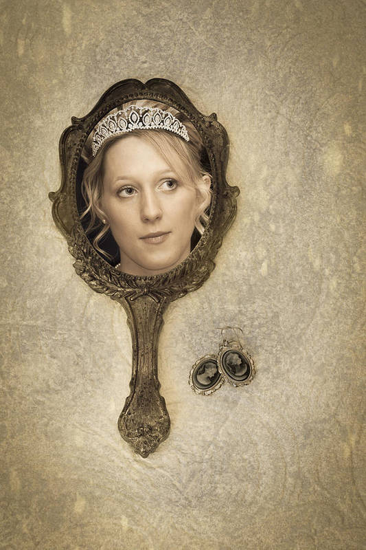 Woman Art Print featuring the photograph Woman In Mirror by Amanda Elwell