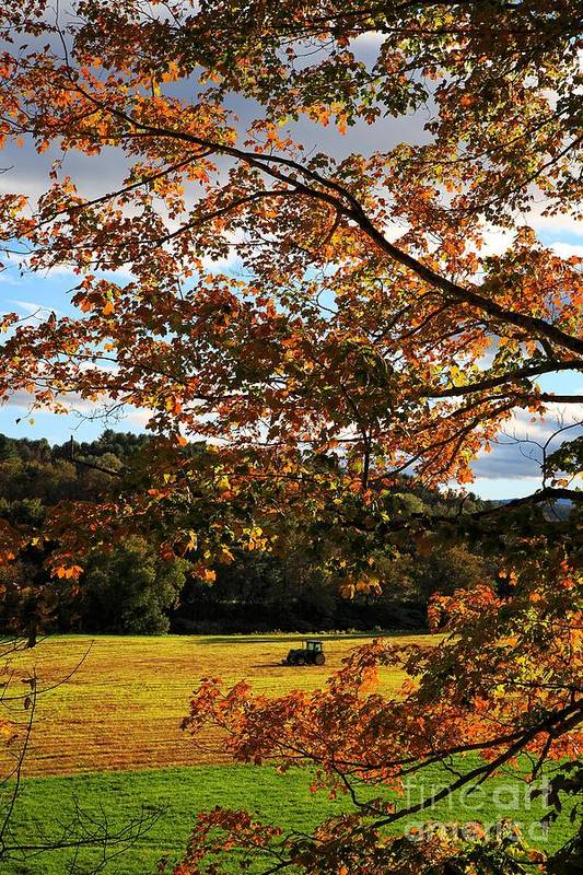 Vermont Art Print featuring the photograph Woodstock Vermont by Edward Fielding