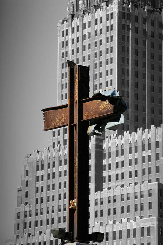World Art Print featuring the photograph World Trade Center Cross New York by Mathew Lodge