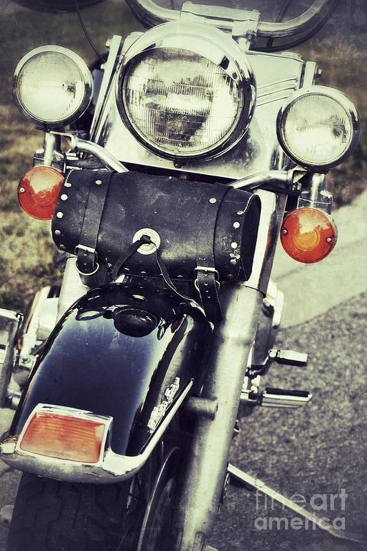 Motorcycle Art Print featuring the photograph Bike by Traci Cottingham