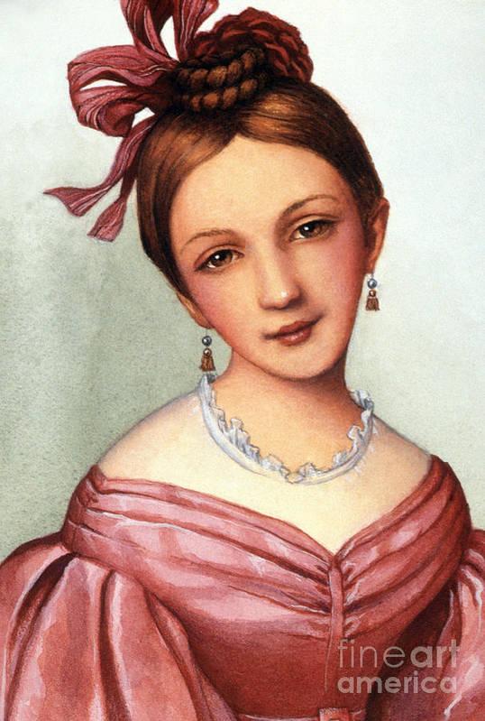 1832 Art Print featuring the photograph Clara Schumann (1819-1896) by Granger