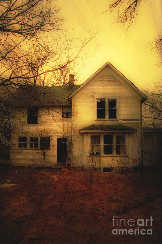 House Art Print featuring the photograph Creepy Abandoned House by Jill Battaglia