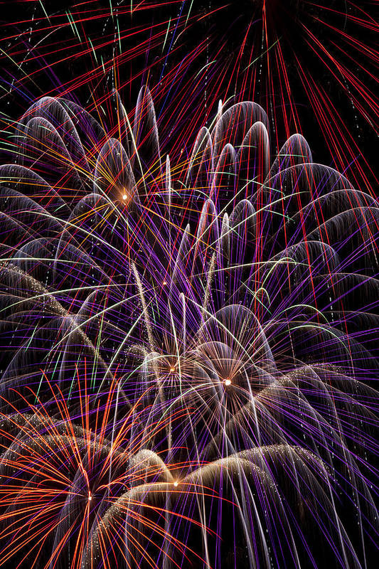 Fireworks 4th Of July Art Print featuring the photograph Fireworks by Garry Gay