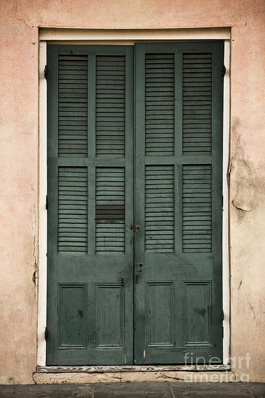 New Orleans Art Print featuring the photograph French Quarter Doors by Leslie Leda