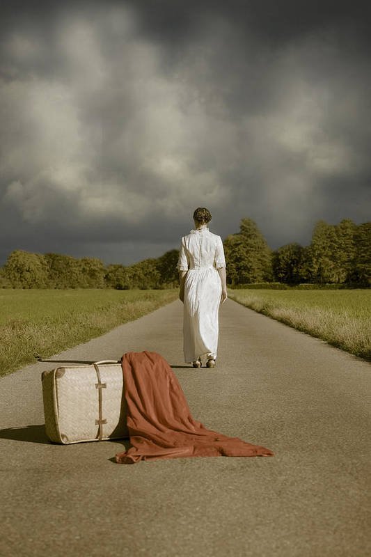 Female Art Print featuring the photograph Lady On The Road by Joana Kruse
